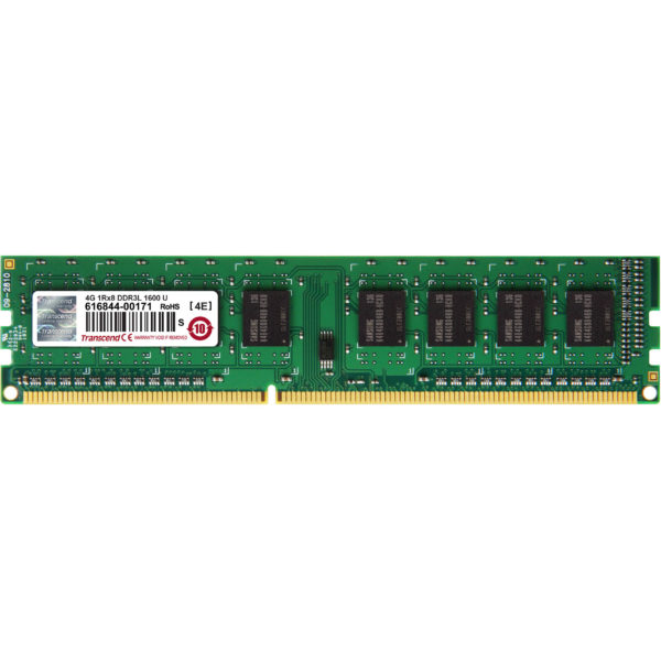 TRANSCEND 4GB DDR3L-1600 LOW VOLTAGE \ DUAL VOLTAGE DESKTOP