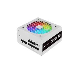 Corsair CX Series CX550F RGB White 550 Watt 80 Plus Bronze Certified Fully Modular