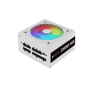 Corsair CX Series CX650F RGB White 650 Watt 80 Plus Fully Modular