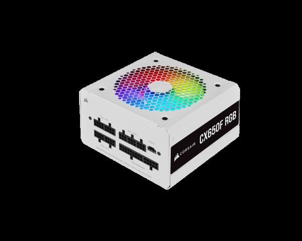 Corsair CX Series CX650F RGB White 650 Watt 80 Plus Fully Modular