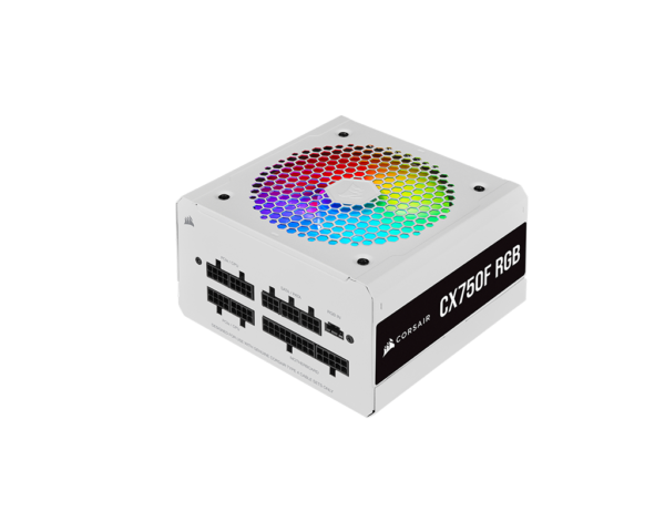 Corsair CX Series CX750F RGB White 750 Watt 80 Plus Fully Modular